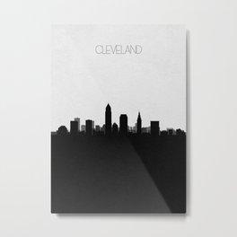 City Skylines: Cleveland Metal Print