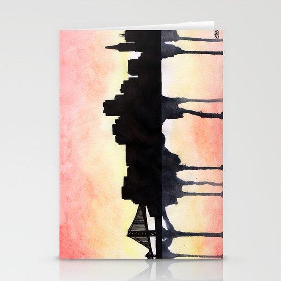 San Francisco Watercolour skyline Stationery Cards