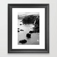 Azores coastal landscape Framed Art Print
