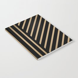 Lined Black + Gold Notebook