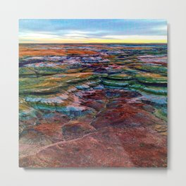 The Glorious Morning - Aerial Birds Eye View Landscape Abstract Metal Print