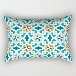 Geometric Pattern, oriental style (blue color set)  traditional morocco tile pattern Rectangular Pillow