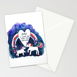 Unicorns Father's Day Stationery Cards