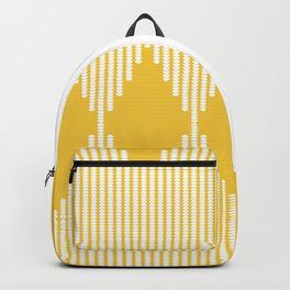 Moon Phases Pattern in Mustard Yellow Backpack