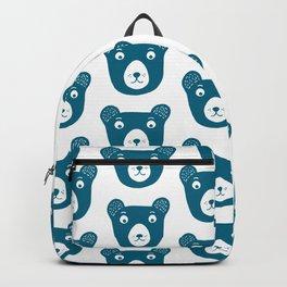 Cute dark blue bear illustration Backpack