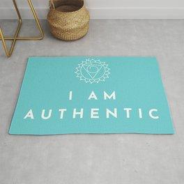 I AM AUTHENTIC - Chakra Affirmation Vishuddha Rug
