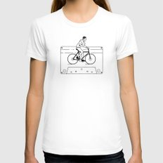 Welcome to Your Tape (Alternate Version) White SMALL Womens Fitted Tee