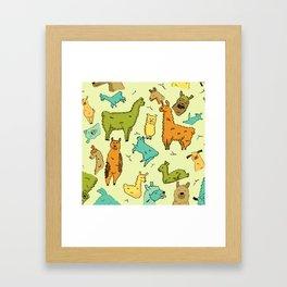Llots of Llamas Framed Art Print