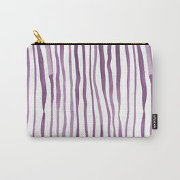 Vertical watercolor lines - purple Carry-All Pouch