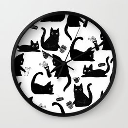 Bad Cats Knocking Stuff Over Wall Clock