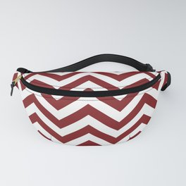 Sangria Red Chevrons Pattern Fanny Pack