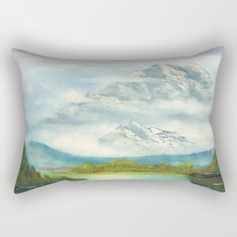 Mist In Mountains Rectangular Pillow
