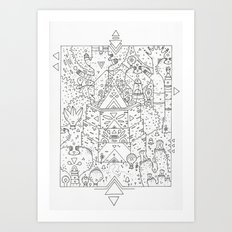 garden of koznoz Art Print