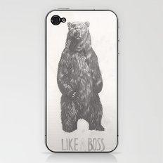 Like a Boss Bear iPhone & iPod Skin