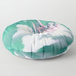 Star Castle In The Clouds Floor Pillow