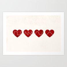 Love Synth Art Print