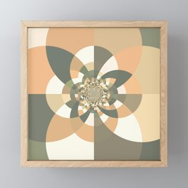 Beige Peach Kaleidoscope Framed Mini Art Print