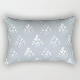 Vintage Botanical Print // Lapis Blue Rectangular Pillow