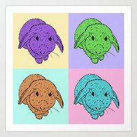 Benny Bunny Rabbit Pop Art Print