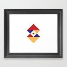 T R I | Eye Framed Art Print