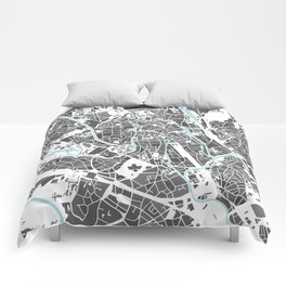 Ghent City Map I Comforters