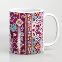Romanian  Antique  Double Niche Carpet Coffee Mug