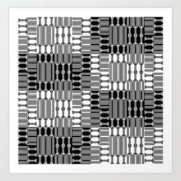 Bosque Black&White Art Print