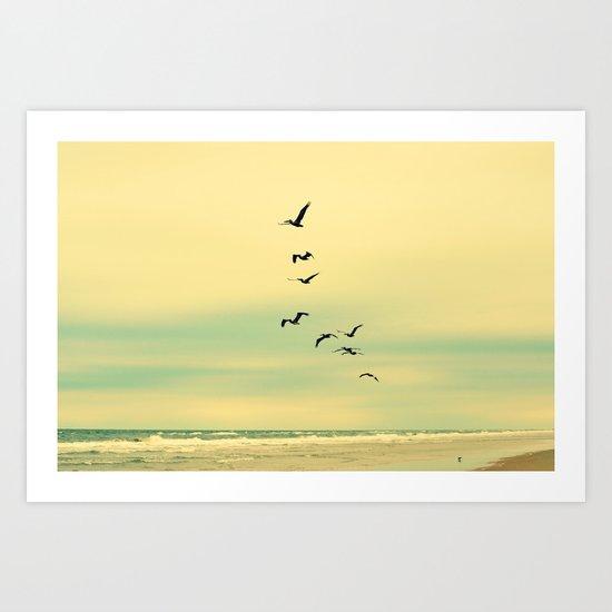 Across the Endless Sea Art Print