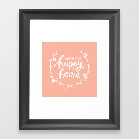 Happy Home Framed Art Print