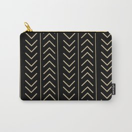 Mudcloth Black Carry-All Pouch