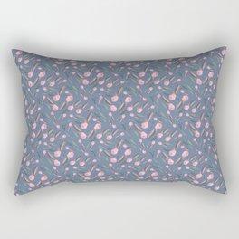 Watercolor Camellia Buds Rectangular Pillow
