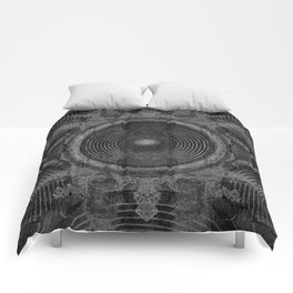 Black and white music speakers Comforters
