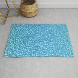 Blue Swimming Pool Rippling Water Rug