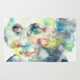 HORATIO NELSON - watercolor portrait Rug