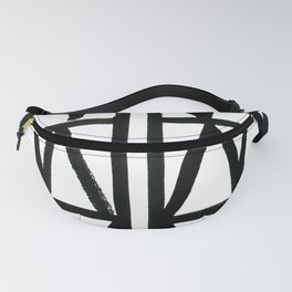 Brush and Ink II Mudcloth Pattern Fanny Pack