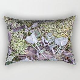 Frozen Foliage Rectangular Pillow