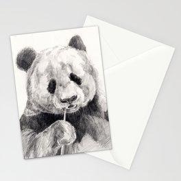Panda black white Stationery Cards