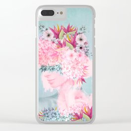 Woman in flowers II Clear iPhone Case
