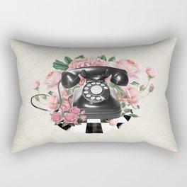 Vintage Rotary Phone Rectangular Pillow