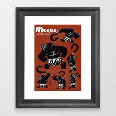Moana, Animated Movie Poster, Oceania, Vaiana, minimal, alternative, film, playbill, 3D cartoon Framed Art Print