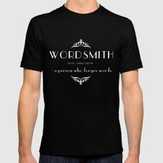 WORDSMITH LARGE Black Mens Fitted Tee