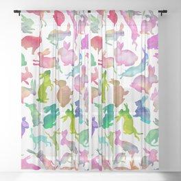 Watercolour Bunnies Sheer Curtain