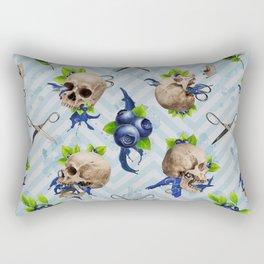 Blue Is Bleeding Through Rectangular Pillow