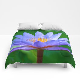 Violet lotus flower by #Bizzartino Comforters