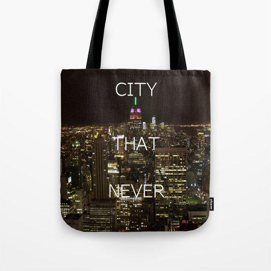 New York, New York. Tote Bag