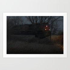 night hauling towards Chicago Art Print