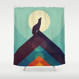 Howling Wild Wolf Shower Curtain