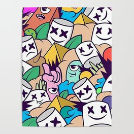 Marshmello  all face Poster