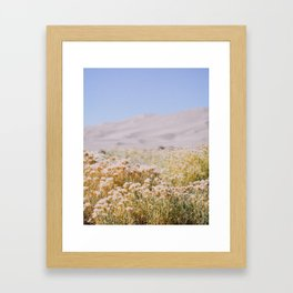 miles to go, nowhere to be. Framed Art Print