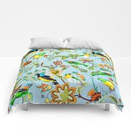 Colourful Birds Chintz Multicolour Comforters